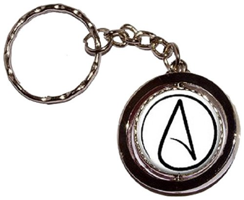 Atheism Atheist Symbol Round Spinning Keychain by Graphics and More
