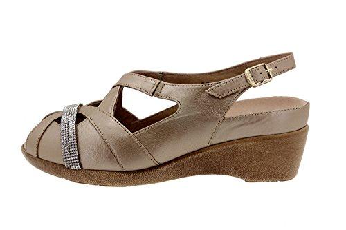 Chaussure femme confort en cuir Piesanto 6558 sandale casual chaussure confortables amples Platino-Extr