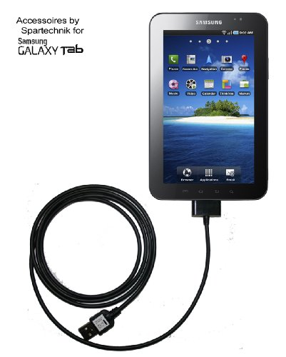 USB Datenkabel Galaxy Tab - bestes Ladekabel und Datenkabel für Samsung Galaxy Tab Tablet PC P1000 Tab 7.0 Plus, 8.9, 10.1. Tab 10.1N - schwarz