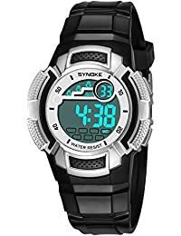 Bestow SYNOKE Multi-Function 50M Reloj Impermeable LED Digital Reloj de Acci¨n Doble