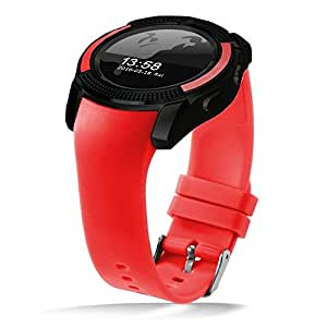 Apple iPhone 6 Compatible Bluetooth Smartwatch With Sim & Tf Card Support With Apps Like Facebook And Whatsapp Touch Screen Multilanguage Android/Ios Mobile Phone Wrist Watch Phone With Activity Trackers And Fitness Band BY ESTARSupported Devices -BY ESTAR