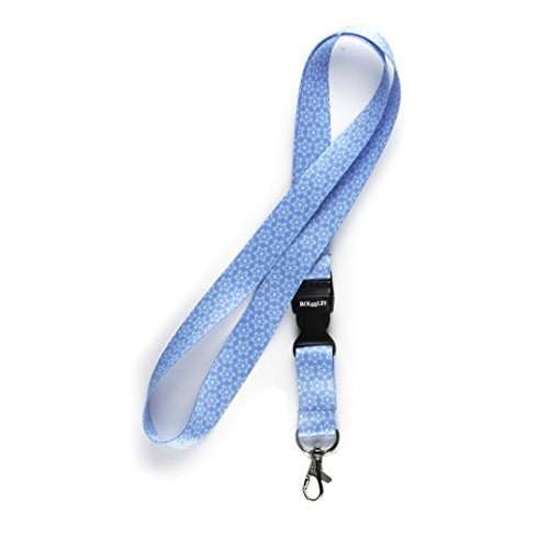 lanyard-neck-strap-floral-blue-for-id-badge-holder-with-metal-clip