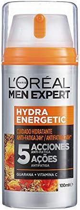 L'Oréal Men Expert, Crema Hidratante Anti-Fatiga 24h Hydra Energetic, Para Hombres, Crema Facial de Uso Di
