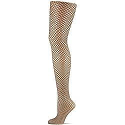 Dim Style Panty Fantasía Rejilla Grande Medias, 70 DEN, Negro 127, Medium (Tamaño del fabricante:2) para Mujer