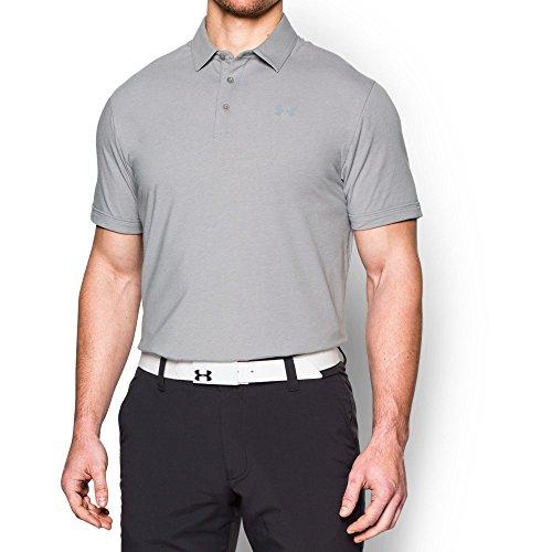 Under Armour Herren Charged Cotton Scramble Polo Kurzarmshirt True Gray Heather/Steel