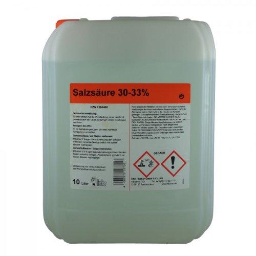 Salzsäure 30-33 {fb79b8bc1f83ca06f69b8706ccfa5d112d53edb976ddb537f0e1f210911043bc} 10 L