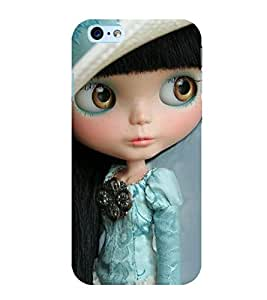 Takkloo Baby doll ( cute doll, black hair doll, beautiful eyed doll, doll wearing cap) Printed Designer Back Case Cover for Apple iPhone 6 Plus :: Apple iPhone 6+