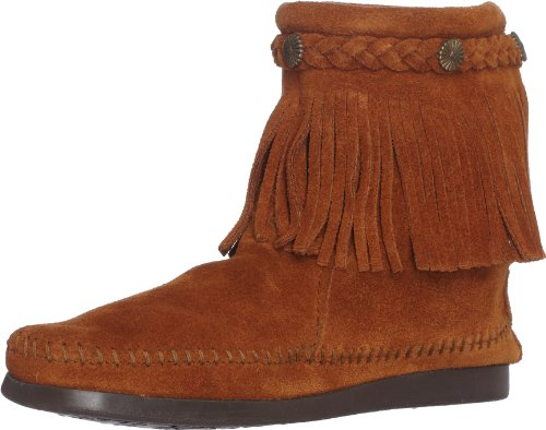 Minnetonka Damen Hi Top Back Zip Boot Mokassin Stiefel Braun (Brown)