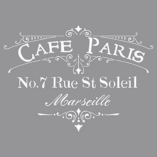 0 Schablone Café Paris, 30,5 x 30,5 cm, Polyester, SB-Btl 1 Stück ()