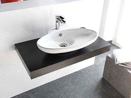 Lavabo Lavabo design appui hors 3 en céramique 63 x 47 x H13 cm