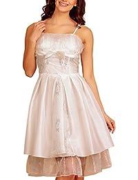 My Evening Dress Robe de soirée en taffeta et mousseline de satin longueur genoux