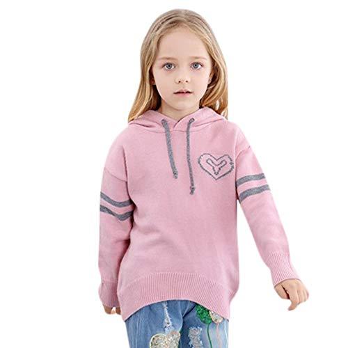 Baby Pullover Mädchen mit Kapuzen Herbst Winter Yanhoo Kindermode Strickpullover Sweatshirts Hoodie Langarmshirt Kapuzenpullover Bluse Tops