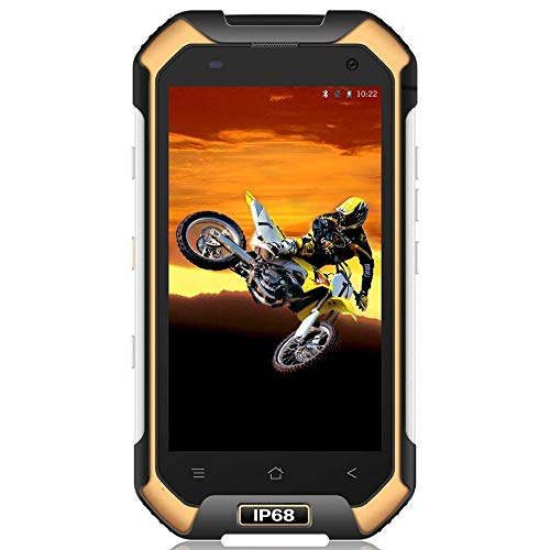 Blackview BV6000 - Movil Todoterreno (IP68 Impermeable, Batería 4500 mAh, Octa-Core 3GB RAM + 32GB ROM, Android 7.0 Dual SIM Smartphone, 13MP Cámara, 4.7 HD, Bluetooth, NFC, Teléfonos Libres) Amarillo