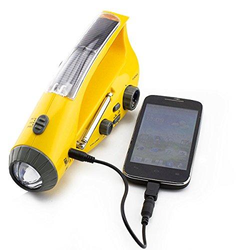 Taihang Solar/Hand Kurbel Dynamo Notfall LED Taschenlampe Alarm Handy Ladegerät Radio (Kurbel-handy-ladegerät)