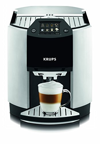 Krups EA9010 Kaffee-Vollautomat One-Touch-Funktion (1,7 L, 15 bar, Touchscreen-Display, Milchbehälter) silber