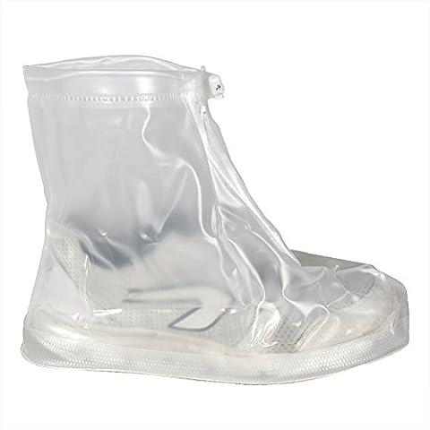 Réutilisable Imperméable Pluie Neige Protection antidérapante hommes femmes filles garçons Chaussures Housses M blanc