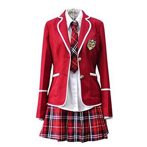 HugAzure Kostüm Mädchen Cosplay Japan Langärmelige Anime Kleidung Schuluniformen Klassische Navy Matrosenanzug-XL