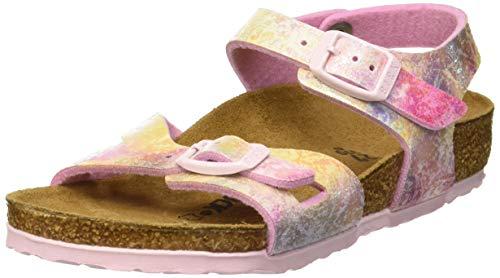 Birkenstock Rio Sandali con Cinturino alla Caviglia Bambina, Multicolore Water Color Multi, 31 EU