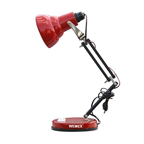 Wemex Red Billie Jean Reading & Study Table Lamp