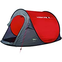 High Peak Pop Up Zelt Vision 2, Rot/Grau/Schwarz, 10107