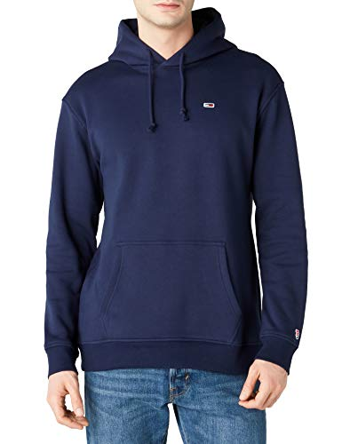 1319b12b Tommy Hilfiger Men's TJM Tommy Classics Hoodie Sweatshirt, Blue (Black Iris  002),