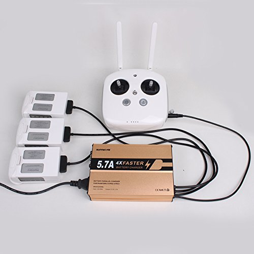 Flycoo caricabatterie rapido 4 in 1 per dji phantom 4/4 pro / 4 pro + batteria e telecomando smart intelligent rapid fast charger