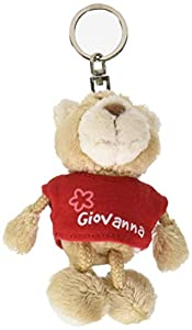 NICI n15807-Llavero Oso con Camiseta Giovanna, Rojo