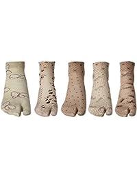 Khi Women's Graphic Print Ankle Length Socks (Pack Of 5) (KhiAlfa Thumb Socks_Multicolor)