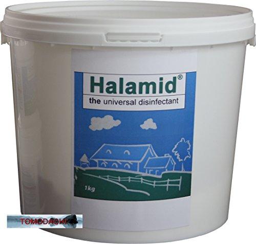 Halamid / Chloramin-T, das Original von Axcentive - Professionelles Desinfektionsmittel gegen Viren, Bakterien, Pilze und einzellige Ektoparasiten im Koiteich und in der professionellen Aquakultur, 1kg Eimer Halamid -