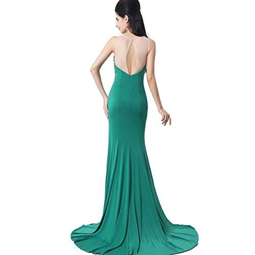 Sarahbridal Damen Kleid Grün - Grün
