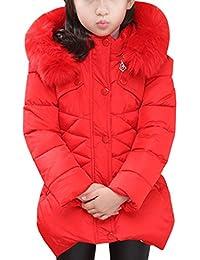 Ankoee Kinder Mädchen Lange Winterjacke Fellkapuze Outerwear Oberbekleidung Winter Kleidung Verdichte Kinderjacke Wintermantel Mantel
