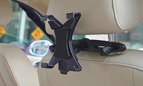 Takit ST1 - Auto Kopfstützenhalterung für iPad Air2/3/4/Mini, Galaxy Tab 3/4, Nexus 7, Kindle Fire HD 6/7, Fire HDX 7/8/9, Fire 2 und alle Tablet-Geräte 7 – 11 Zoll, 360° drehbar
