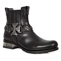 Super Oferta NEW ROCK - Botas de Piel New Rock Originales M.GY34-S1