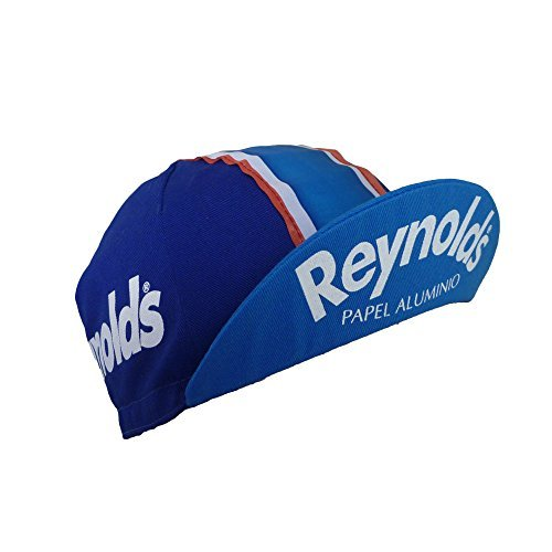 Fahrrad Retro Team Cap Vintage Fixie Reynolds blau (Fixie-caps)
