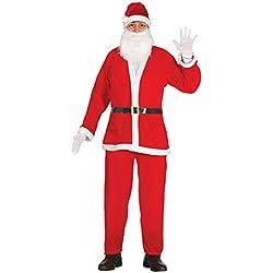 Guirca - Disfraz Papá Noel adulto Premium, talla L, color rojo (42691.0)