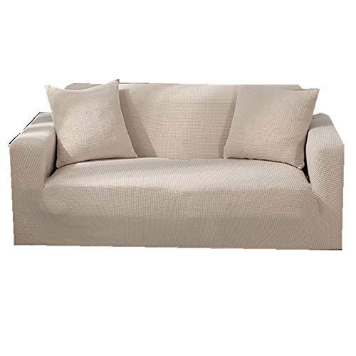 DADAO Sofabezug Stretch Protektoren Sofa Cover universal Wildleder 2 sitzer 3 sitzer-Beige pillowcase40x40cm(16x16inch) (3 16-protektor)