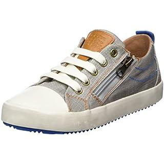Geox Jungen J Alonisso D Low-Top Sneaker, Grau (Grey/Lt Blue), 27 EU