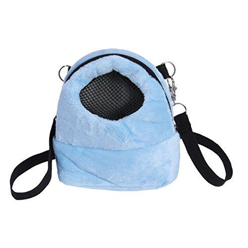 UEETEK Kleintier Tragetasche Hamster Reisetasche Rucksack für Meerschweinchen Chinchilla Igel - Größe S (Blau)