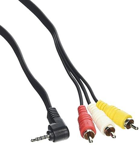 Hosa Technology C3M-103 Câble TRRS vers connecteur RCA vidéo/stéréo/audio 3,5mm Longueur: 0,91m