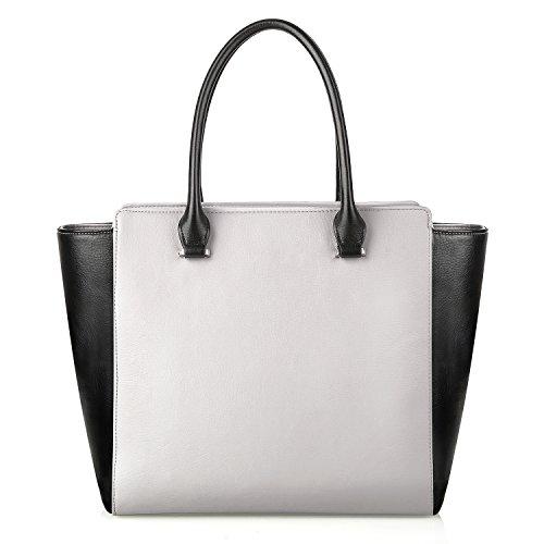PRASACCO Handtaschen Damen Umhängetasche Henkeltasche Schulter Taschen Messenger Tote Taschen aus weichem Beutel und PU Leder