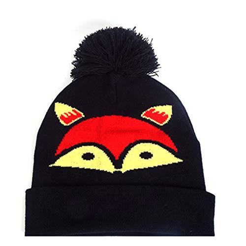 PRENKIN Frauen Mädchen Teens Cute Animal Strickmütze Pom Pom Hut Mütze Cartoon Beanie Winter Herbst Kopfbedeckung