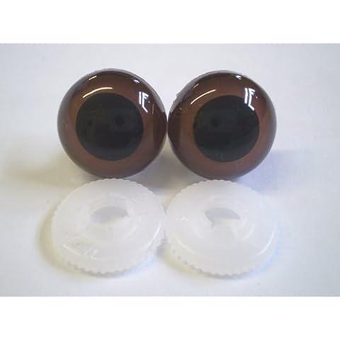 Craft-Giocattolo per cani, motivo: occhi di sicurezza, a forma di orsetto, colore: marrone, 18 mm, consegna gratuita