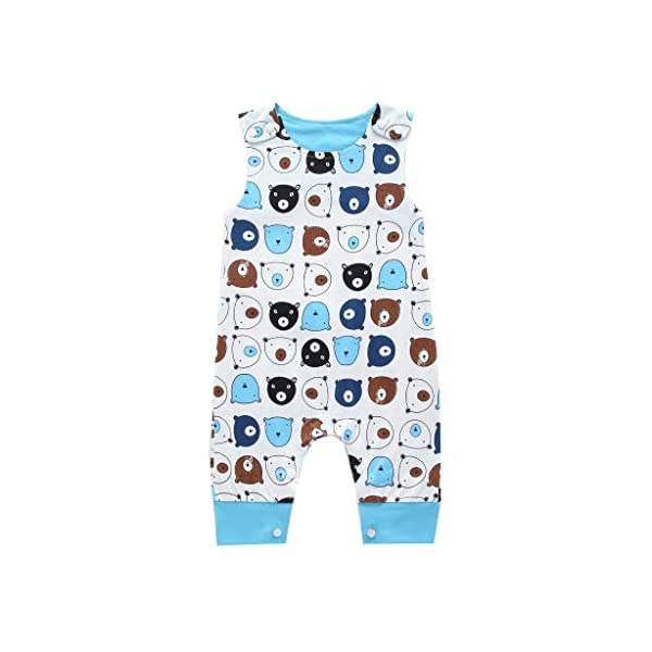 MAYOGO Body bebé Niño Verano Caricatura Bebé Monos sin Manga Mameluco Niño Pelele Recién Nacido bebé Pijama Bodies Bebe… 4