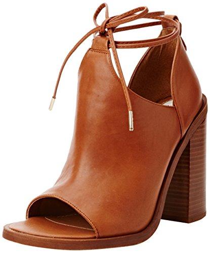 Windsor Smith Damen Tiara Leather Absatzschuhe mit offener Zehe, Braun (Tan), 38 EU