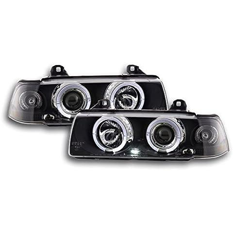 Faros delanteros Set BMW serie 3 sedan modelo E36 92-98 negro