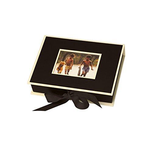 Semikolon (352510) Kleine Fotobox mit Einschubfenster marine (blau) - Aufbewahrungsbox für Bilder -...