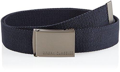 Urban Classics TB305 Unisex Gürtel Canvas Belt für Herren und Damen, stufenlos verstellbarer Stoffgürtel, Blau (navy 155), Gr. One Size