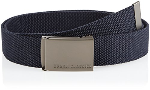 Urban Classics Canvas Belts, Cintura Unisex, Navy 155, 120 cm (Taglia Produttore: One Size)