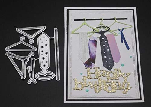 CTOBB Hangers TIE Scrapbook Metallschneideisen für Scrapbooking Stencils DIY Album-Karten Dekoration Embossing Folder Cuts Die, 7.4x8.7cm - Embossing Wort Folder