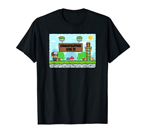 13ter Geburtstags 13 Jahre alt 2d Video Spiel Geschenk  T-Shirt